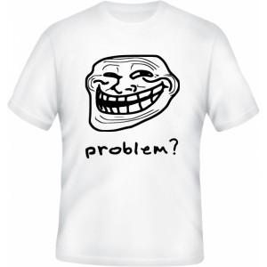 Tričko s nápisem Trollface