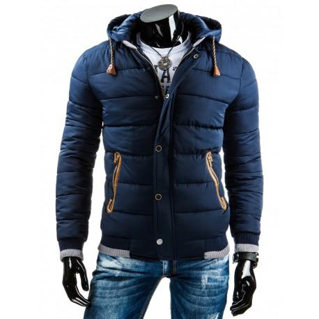 kratka-stylova-modra-bunda-na-zimu
